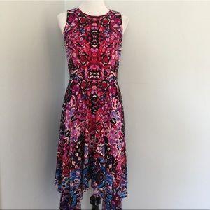 LONDON TIMES Flutter Hem Dress